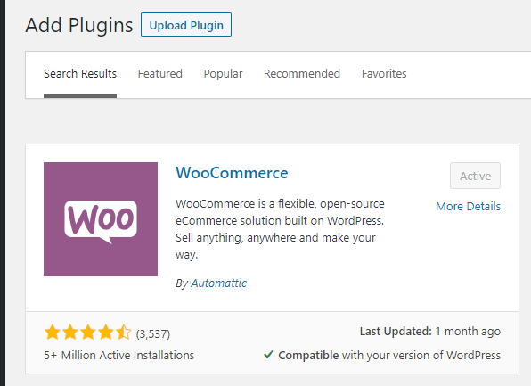 Download the WooCommerce shopping cart plugin