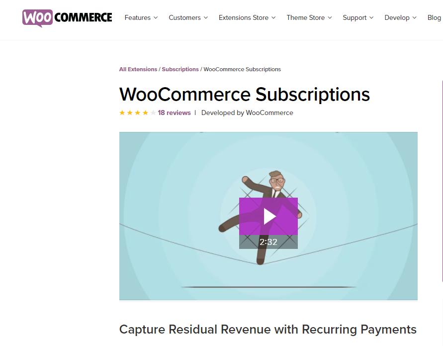 WooCommerce subscription plugin