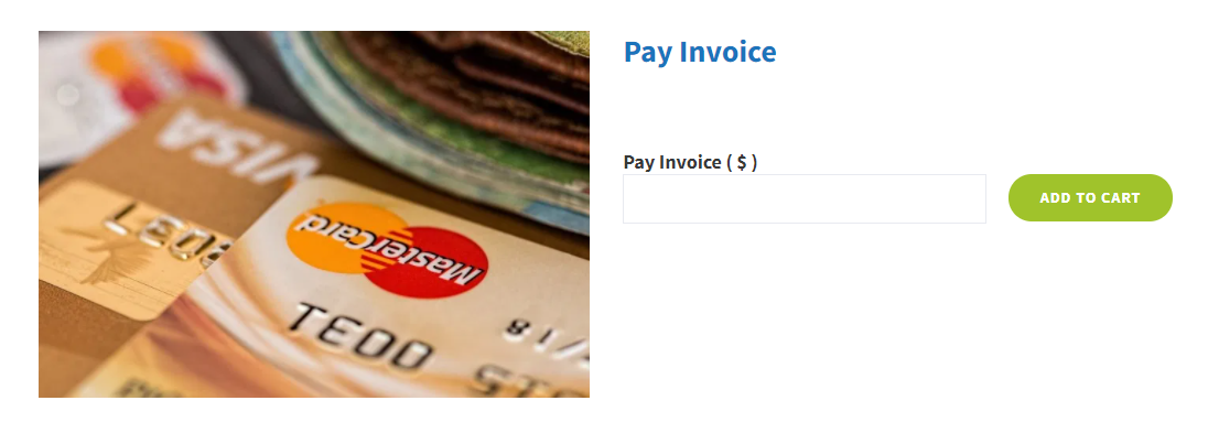 WordPress Pay Invoice by credit card
